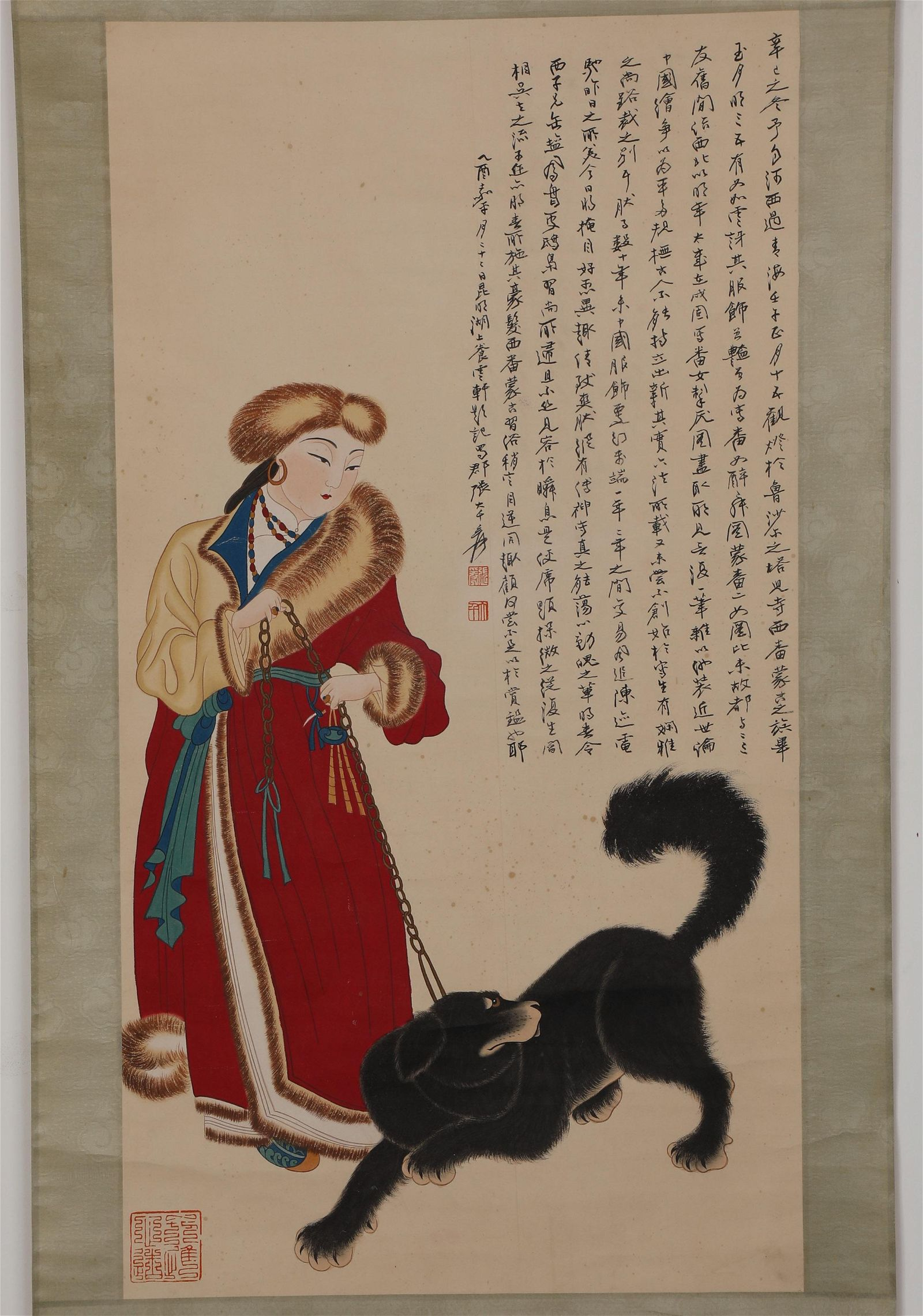 Chinese ink painting Zhang Daqian's figure