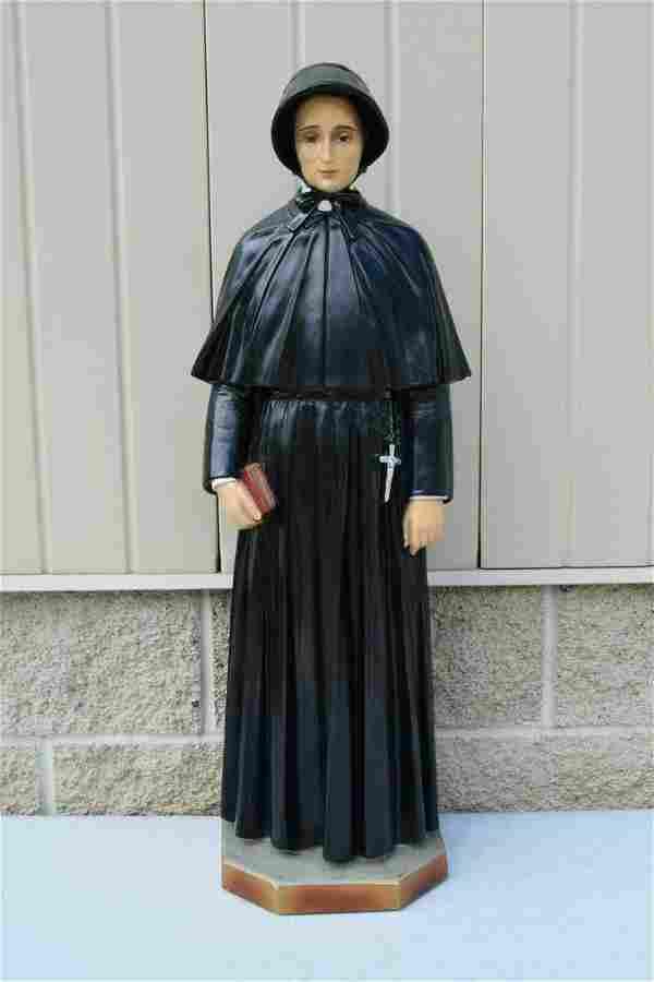 Plaster Church Statue of St. Elizabeth Ann Seton