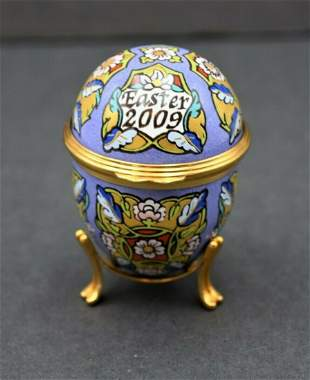 Halcyon Days Enamels, Hand Painted Trinket Box (2009)