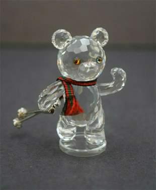 Rare Swarovski Figurine Crystal Bear with Skis
