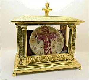 Brass Reliquary Shrine House with Multiple Relics