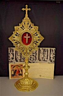 Reliquary with Relic & Document of Bl. Columba of Rieti