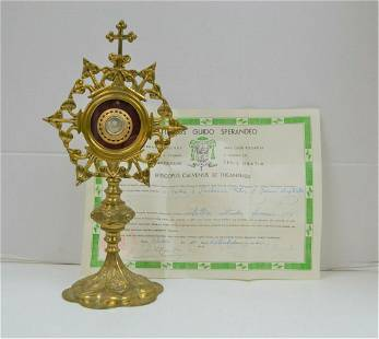 Reliquary with Relic and Document of St. Zachariah