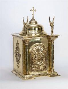 Beautiful New Bronze Tabernacle with Angels