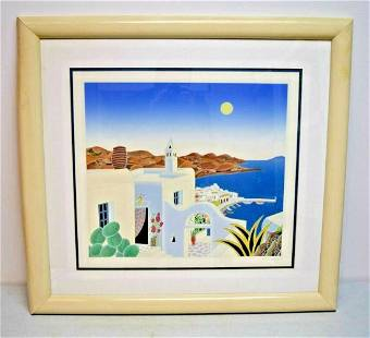 Thomas McKnight Hand Signed and Numbered Color Silk