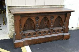 Nice 120 Year Old Antique Gothic Wood Altar