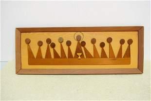 Nice Vintage Wood Last Supper Panel Wall Hanging