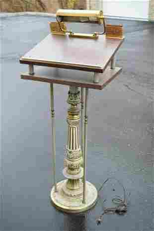 Older Antique Reader Stand, Ambo, Pulpit, Lectern