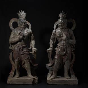 China, Tang, a pair of bluestone wrestlers