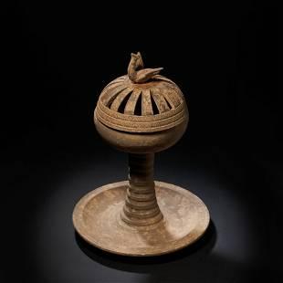 Eastern Han Dynasty, pottery lamp