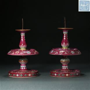 China, Qianlong Period, Qing Dynasty, carmine,tangled