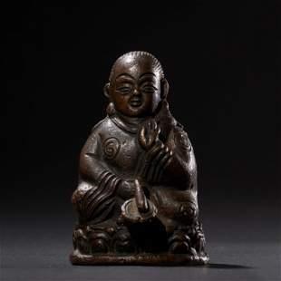 Qing Dynasty, a gilt bronze Buddha