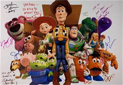Autograph Signed Toys Story 3 Poster