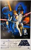 Autograph Signed Star Wars Mark Hamill Poster