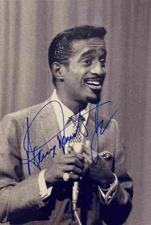 Autograph Signed Sammy Davis Jr. Photo