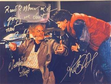 Autograph Signed Back to the Future Photo