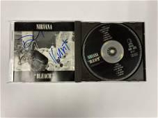 Autograph Signed Nirvana Bleach CD