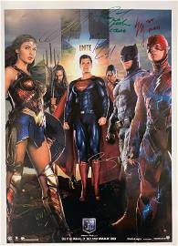 Gal Gadot Autograph Signed Justice League Poster