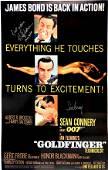 Autograph Signed James Bond 007 Goldfinger Poster