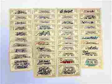 Autograph Signed Harry Potter Train Ticket Set of 42