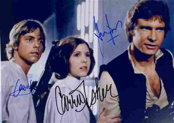 Signed Star Wars Mark Harrison Carrie Photo