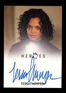 Autograph Signed Tessa Thompson Heroes Card