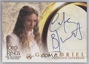 Autograph Signed Cate Blanchett Lord Ring Card