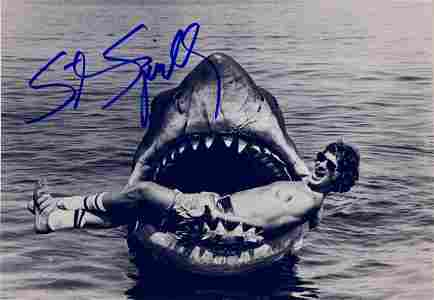 Autograph Signed Jaws Steven Spielberg Photo
