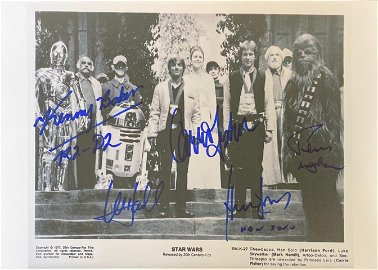 Signed Star Wars Media Press Photo