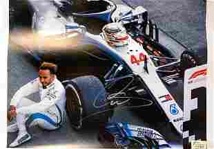 Signed Lewis Hamilton Poster