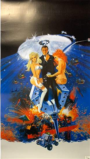 Signed 007 Diamonds Are Forever Poster