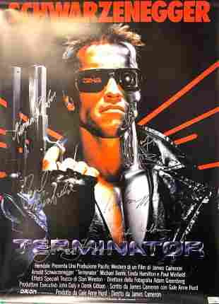 Signed Terminator 1 Poster