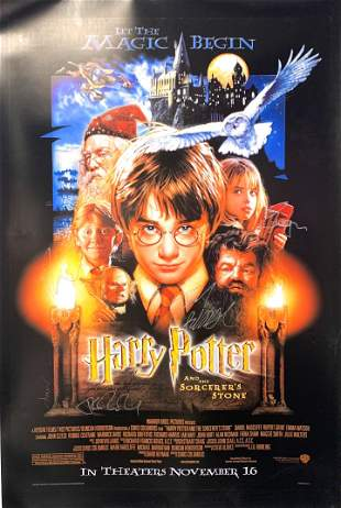 Signed Harry Potter Stone Poster