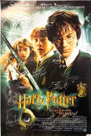 Signed Harry Potter Chamber of Secrets Poster