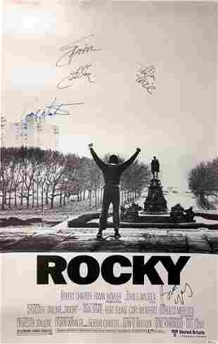 Signed Rocky Poster