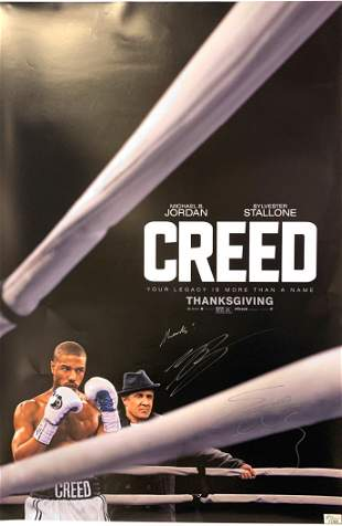 Signed Creed Poster