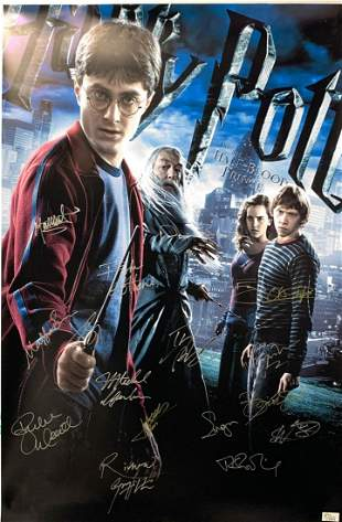 Signed Harry Potter and The Half Blood Price Poster