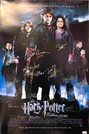 Signed Harry Potter and The Goblet of Fire Poster