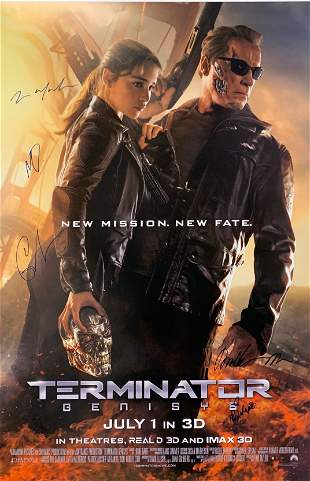 Signed Terminator Genisys Poster