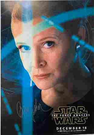 Signed Star Wars Force Awakens Poster