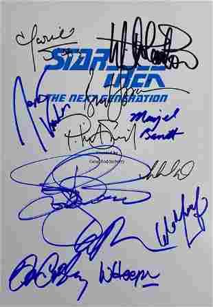 Signed Star Trek Script Cover