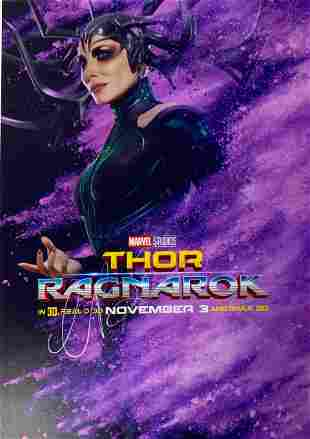 Signed Thor: Ragnarok Photo
