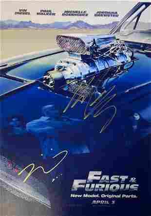 Signed Fast & Futious Photo