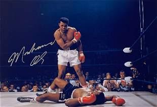 Signed Muhammad Ali Photo
