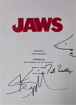 Signed Jaws Script Cover