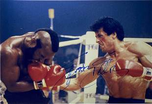 Signed Rocky Sylvester Stallone Photo