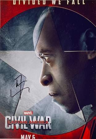 Signed Avengers Civil War Photo