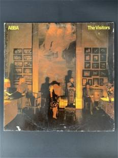 Vintage vinyl record group ABBA - The Visitors