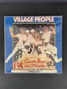 "Old vinyl record ""Village people"""
