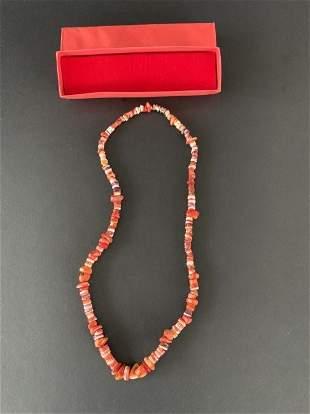 Beautiful Peruvian stone choker with beads